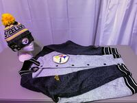 Steelers large varsity jacket & adult beanie Clovis, 88101