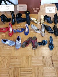 Shoes. Pickup on Steeles and yonge.Some new-home used 1-2 times.