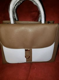 white and brown leather tote bag Stockton, 95205
