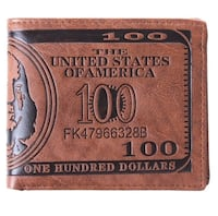 $100 bill leather wallet