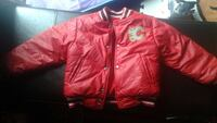 red leather letterman jacket
