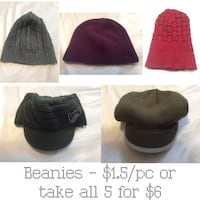Beanies - $1.5/pc or take all 5 for $6 London, N6H