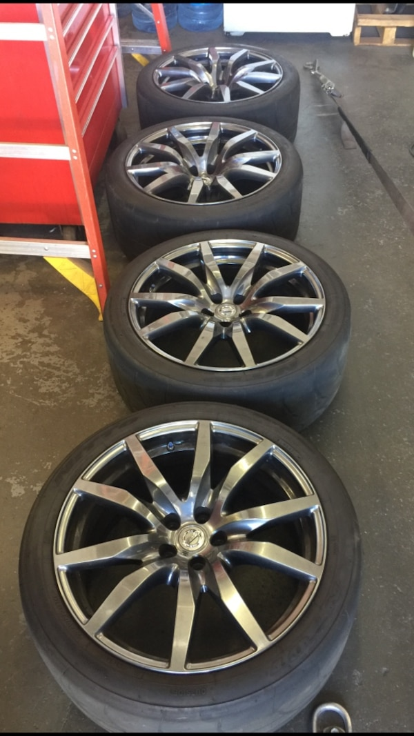 Used Gtr R35 Wheels And Nt01 Tires With Tpms For In Los Angeles Letgo
