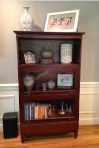Barrister bookcase. Three glass door cabinet with drawer. Arlington, 22201