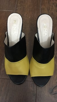 Black and yellow leather nina sandals Burnaby, V5E