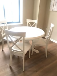 White Table & Four Chairs - Value City Furniture Pittsburgh, 15222