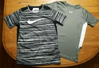 Boys Youth Large Nike and Under Armour shirts Wind Gap, 18091
