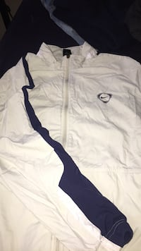 white and black zip-up jacket Calgary, T3J 2S6