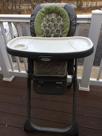 baby's white and green Graco highchair Columbia, 21044