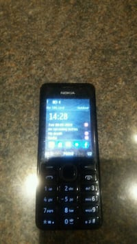 black Nokia 206 Android phone