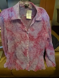 Pink sheer shirt  WASHINGTON