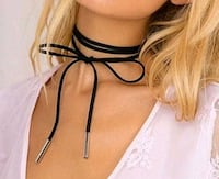 $4 NEW black suede adjustable choker  Ballwin, 63021