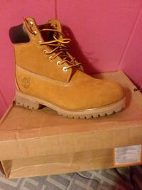 pair of brown Timberland work boots Sumter County, 29168