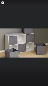 Brand New Color Gray Storage Shelf Cubes Set 6 Frederick, 21704