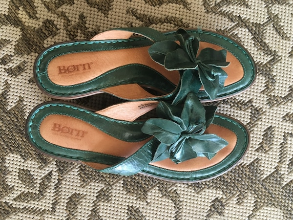 Green Born sandals  size 8