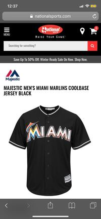 Miami Marlins authentic baseball jersey