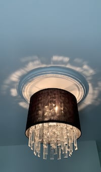 Round mounted chandelier
