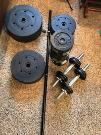 black and gray barbell and dumbbells Oradell, 07649