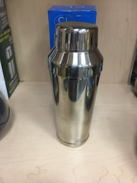 Stainless steel and black tumbler