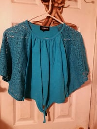 Girls Amy Byer teal top size large Seagoville, 75159
