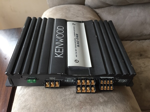 Price Reduced: Black and silver Kenwood amplifier