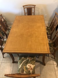Bamboo and Wicker Dining Room Table w/six padded chairs Cape Coral, 33990