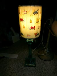 Table lamp w construction images.