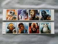 Star Wars, Royal postage stamps from England. Smithtown