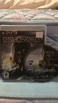 Sony PS3 Dishonored game case