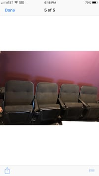 Movie theater chairs 3 rows of 4 $600 obo vineland nj ASHBURN