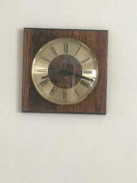Vintage ergo quartz wall clock 9 inches by 9 inches Calgary, T3E 6L9