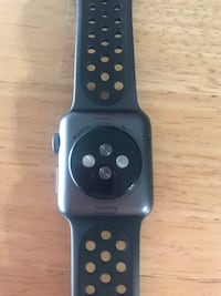 Space black aluminum case apple watch with black sport band 243 km