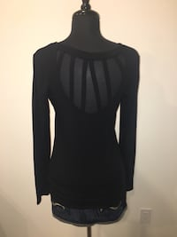 New black long sleeve cut out back top size M