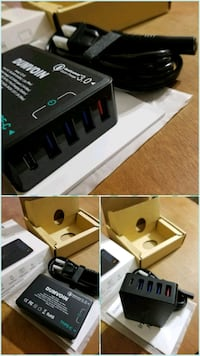 Charging station with QC3.0 type c...