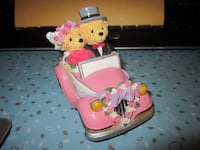 Vintage Avon Lovable Teddies Sarah & Theodore Just Married Figurine 1961 km