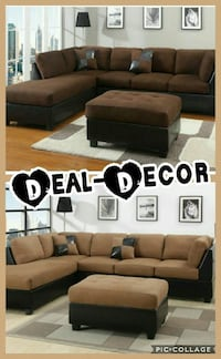 Tan or Chocolate Micro Fiber Sectional