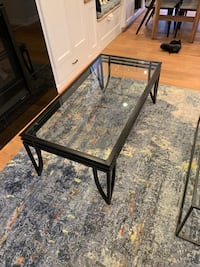 Glass and black coffee table Falls Church, 22042