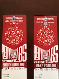 Billets Tickets Canadiens CH vs Red Wings Detroit