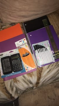 10 count pens, 2 notebooks, 10 count pencils, ruler, 2 folders, and a scientific calculator Lakeland, 33805