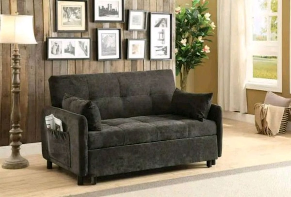NEW!! Dark Brown Fabric Sofa Bed • No Down Payment
