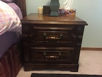 brown wooden 2-drawer nightstand Calgary, T3A 4K7