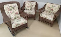 Natural Rattan Wicker Chairs (2) & Rocker North Potomac