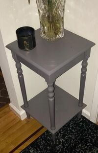 Square Gray Wooden Side Table San Francisco, 94110