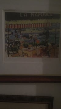 Painting.     signed lithograph East Orange, 07017