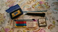 assorted color pen with box