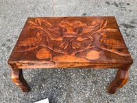 Hand carved coffee table, very unique