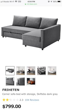 IKEA sectional pull out couch Toronto, M6J 2S2
