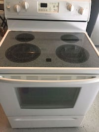 white and black induction range oven Kent, 98042