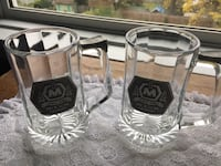 Genuine Pair of Molson Canadian Beer Mugs  Niagara Falls, L2G 2B5