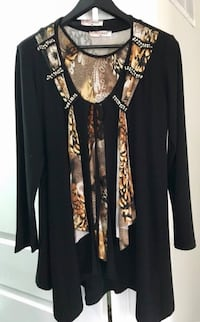 Size L Black and Brown Blouse Toronto, M1L